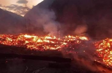 A fire erupted in the Minimarg village of Astore district GB